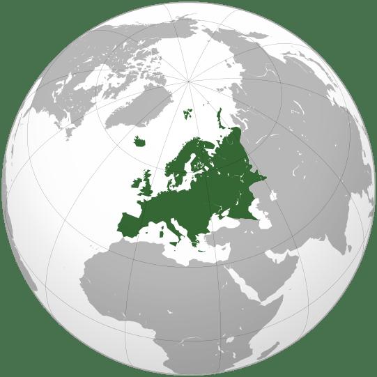 Такими є межі Європи з точки зору фізичної географії. Автор – Ssolbergj (2009).