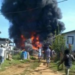 Fuel Tanker explodes at Port Kaituma; Houses and boats gutted