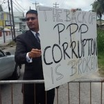 PPP elections protest met with one man counter protest