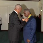 Barbados' Prime Minister conferred with Guyana's Order of Roraima