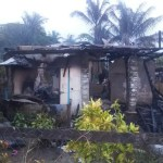 Woman and children jump to safety as fire destroys Parika home