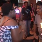 PPP and PNC supporters face-off over Red House lease revocation at Friday night vigil