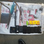 Improvised weapons, phones and pepper sauce confiscated during raids at prisons