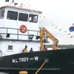 New Prison Vessel launched to ferry prisoners to Mazaruni