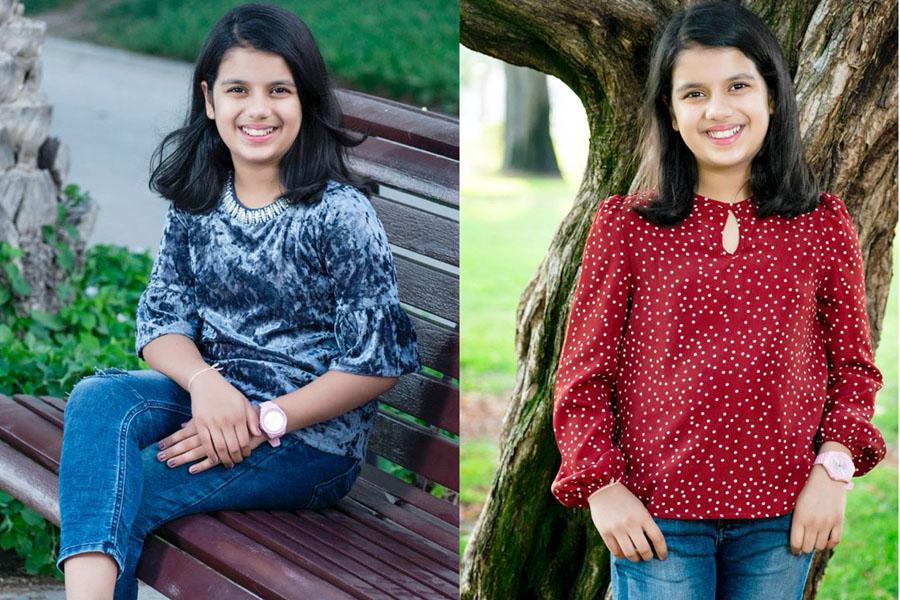 Sara, 10 yrs old, Indian Creates the World Record