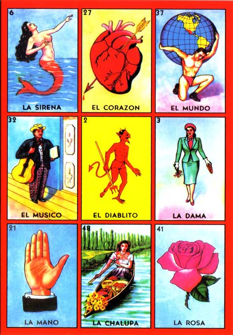 The Top, Most Famous, Lotería Cards