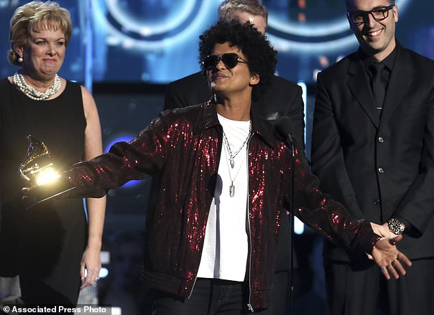 Bruno Mars 1 - Bruno Mars wins 6 for 6 at the Grammys, as Jay-Z missed out in all 8