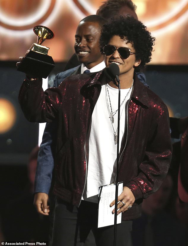 Bruno Mars - List of winners in top categories at Grammys, 2018