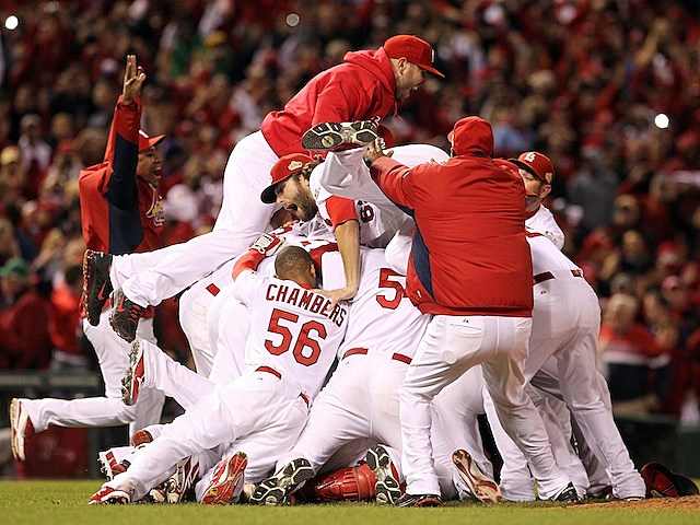 Image result for Cardinals win 2011 World Series