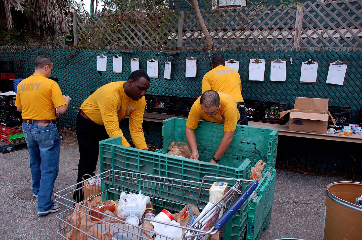 Image: Charity forced to destroy annual food donation for 3,000 homeless people