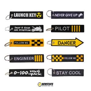 custom flight tag keychains