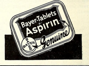 Aspirin has been in existence since the mid-1800s, with this image created in 1894. Photo: United Methodist Church (US)