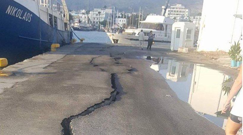 Κόπηκε στα δύο το λιμάνι, λειτουργικό το αεροδρόμιο, τεράστιες ζημιές σε κτίρια