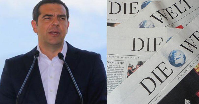 Τσίπρας σε γερμανική εφημερίδα: «Επαναφέραμε στην Ελλάδα το αίσθημα της κανονικότητας»