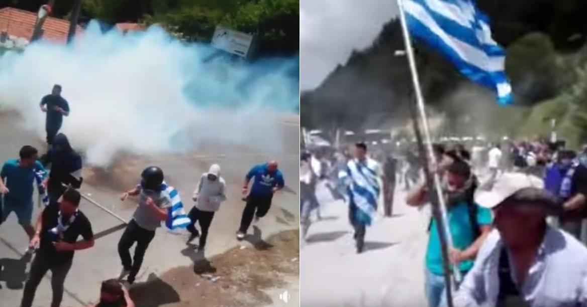 Η Ελληνική Αστυνομία αντί να φυλάει, τσακίζει στο ξύλο όσους αγαπούν τη Μακεδονία