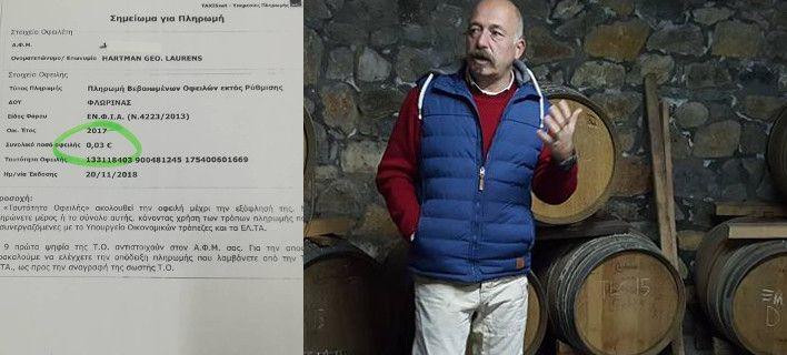 'Εξαλλος Ολλανδός επενδυτής στην Ελλάδα για το μπλόκο της εφορίας λόγω χρέους 3 λεπτών