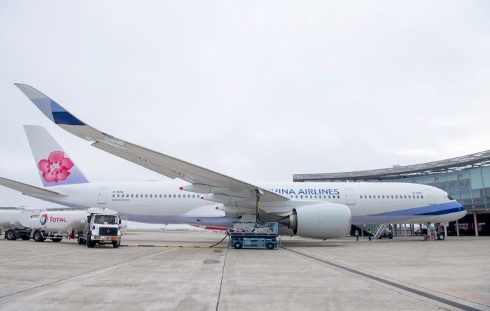 China Airlines takes delivery of A350 XWB powered with biofuel mix 5