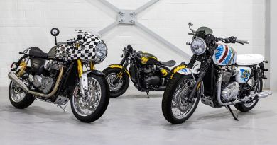 Legendary Artist D*Face Designed Three Custom Motorcycles for Triumph 3