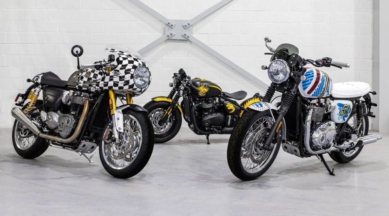 Legendary Artist D*Face Designed Three Custom Motorcycles for Triumph 6