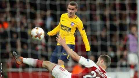 Arsenal concede late equaliser to 10-man Atletico 6