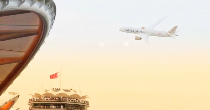 Gulf Air showcases new livery with Dreamliner flypast during Bahrain Grand Prix 5