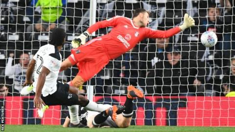 Derby beat Fulham in play-off semi-final first leg 9