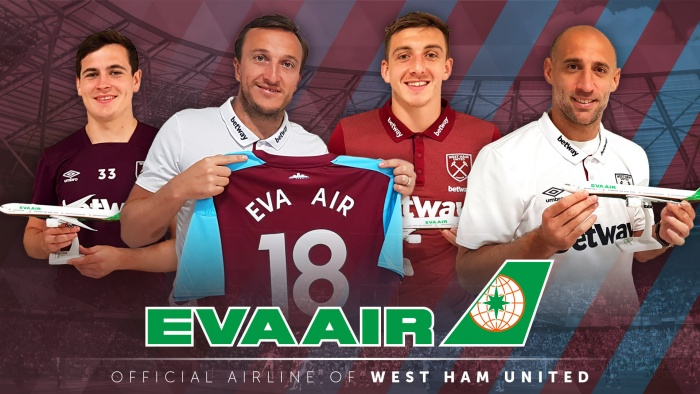 Eva Air partners with West Ham for upcoming Premier League season 16
