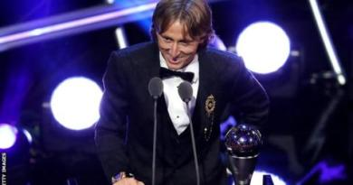 Luka Modric named best male player and Marta best female player at Fifa awards 5