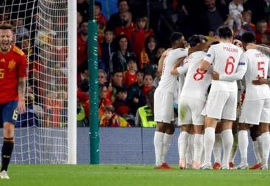 Southgate praises 'courage' of England side after Spain victory