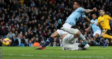 Manchester City 3-0 Wolves: Gabriel Jesus scores twice as City narrow gap on Liverpool 4
