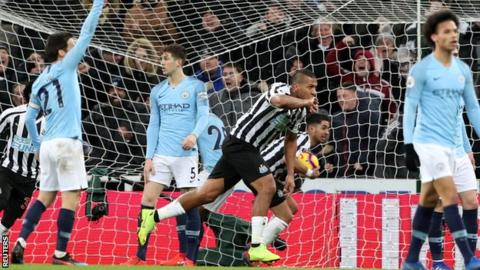 Newcastle United 2-1 Manchester City 16