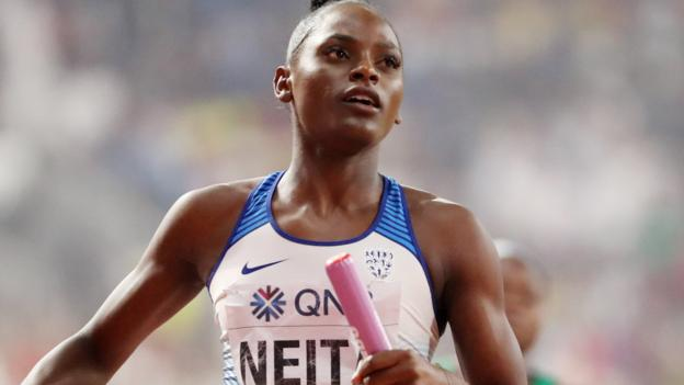 World Athletics Championships: GB 4x100m teams reach finals, Dalilah Muhammad wins 400m hurdles 1