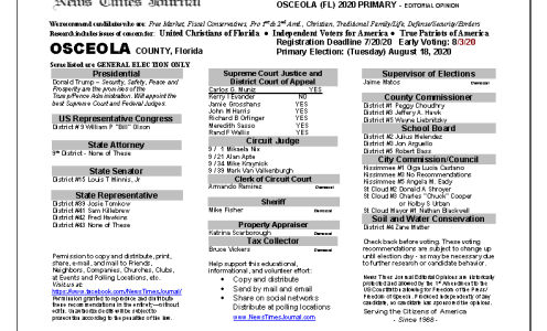 2020 FL Osceola Primary