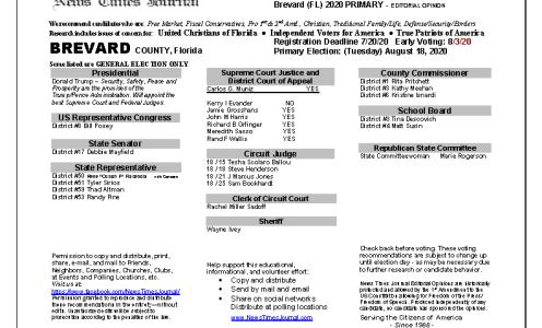 2020 FL Brevard Primary