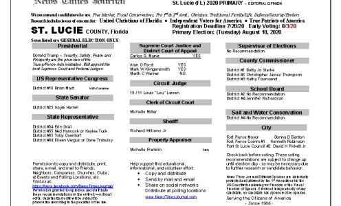 2020 FL St Lucie Primary