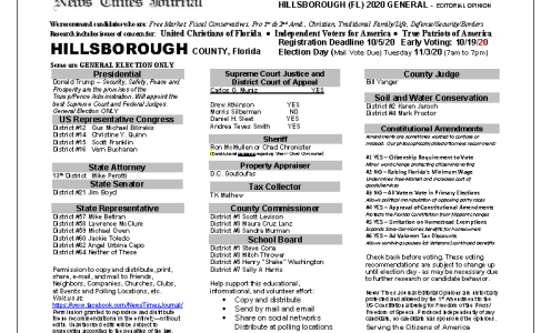 FL Hillsborough 2020 General