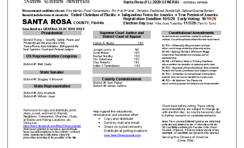 FL Santa Rosa 2020 General
