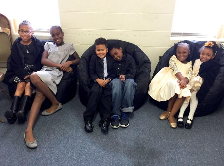 Kids at Children's Worship