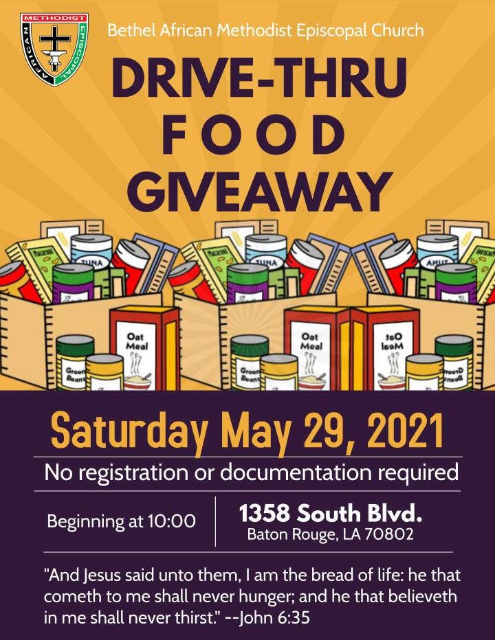 Bethel AME Drive-Thru Food Giveaway