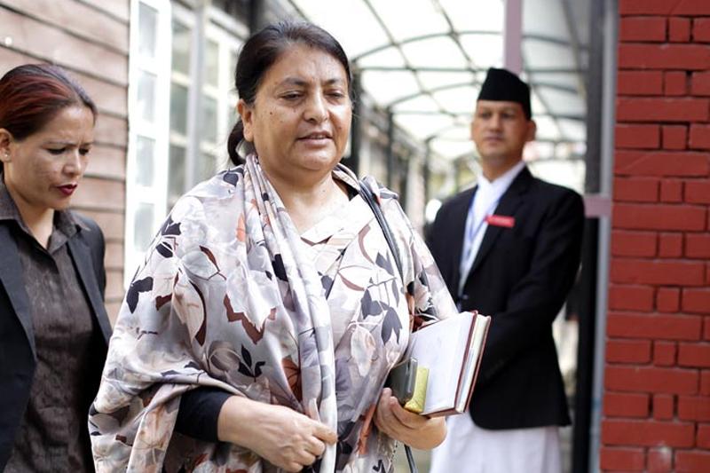 CPN-UML Vice-Chairperson Bidya Bhandari. Photo: THT Online file