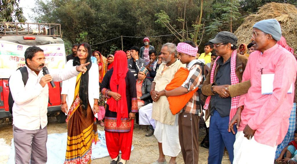 राजगढको विभिन्न वडामा लैङ्गिक हिंसा विरुद्ध सडक नाटक