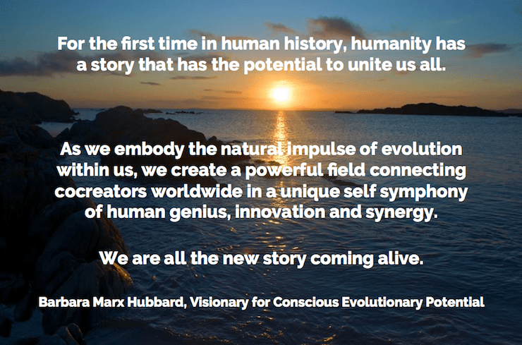 We are all the new story coming alive | Barbara Marx Hubbard