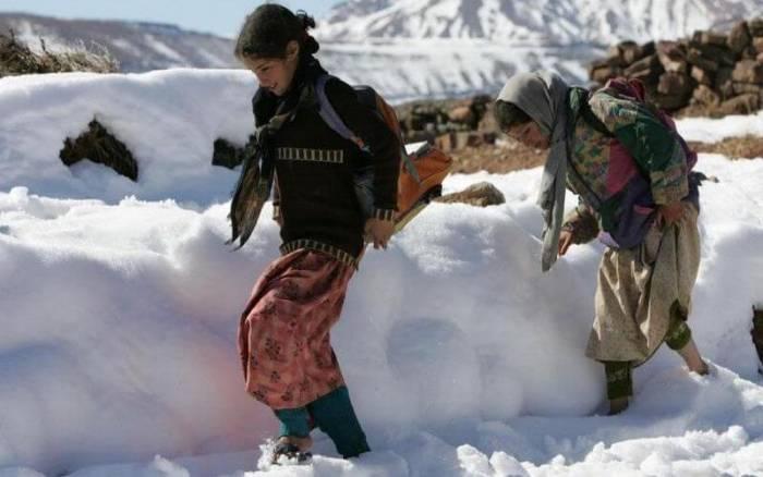 des chutes de neige
