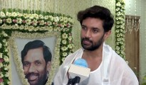 Bihar, Oct 16 (ANI): Chirag Paswan son of Union Minister Late Ram Vilas Paswan speaks to media as he performs rituals for his father, in Patna on Friday. (ANI Photo)