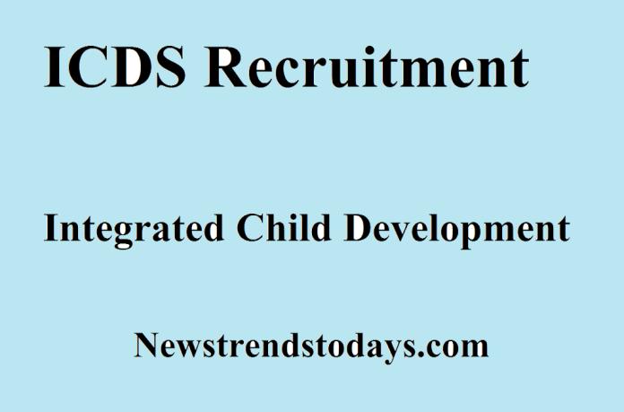 ICDS Recruitment in Integrated Child Development