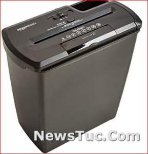 Shred up to 8 sheets Strip-Cut Paper 8-Sheet CD and Credit Card Shredder