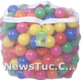 Pack of 200 Click N' Play Lead-Free Proof 100% kids Plastic Ball