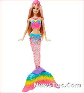 Mermaid with Light-up Tail Amazon Exclusive Plunge BarbieDoll