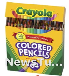 Assorted Colors Crayola Mini Colored Pencils for Kids