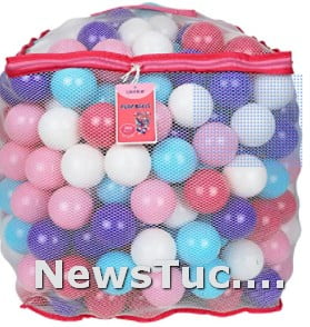 Pretty Feminine Colors Click N' Play Alright for kids Plastic Ball